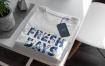 叠加服装展示素材模板样机T Shirt Shopping Mock Up