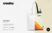 环保手提帆布袋挎设计样机智能贴图素材Tote Bag 2 Mockup 1382168