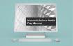 微软Surface 一体机样机素材模板Microsoft Surface Studio Clay Mockup Front