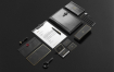 高端黑金质感企业形象识别系统模板素材样机展示