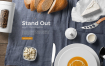 高端精致美食餐饮品牌样机素材下载Kitchen Ready Mockup Vol. 5