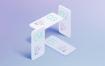 多角度苹果iPhone Xs设备样机UI作品包装iPhone X Minimalistic Mock Ups