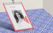 企业吊牌工牌最佳角度展示样机Corporate ID Card Mockup