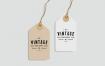 高端品牌服装标签样机展示模板Tag Label Mock Up