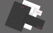 黑色模板样机展示品牌VI样机素材下载Black Corporative Mock Up