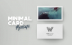 精致多场景卡片设计样机素材品牌名片Minimal Card Mockups