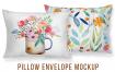 家居长形抱枕样机素材枕头模板展示Envelope Cushion Mockup