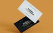 精致高端名片样机模板展示Simple Business Card Mock Up Template
