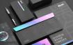 黑色经典品牌样机VI品牌名片信封样机展示模板Blck Branding Mockup Kit
