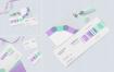 名片标签丝带品牌样机素材展示  智能样机贴图 Business Card Mock Ups