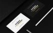 精致名片样机模板展示素材样机Dark Realistic Business Card Mock Up