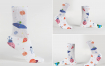时尚男女袜子样机素材模板展示样机Unisex Socks Mockup