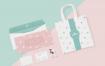 低饱和度白牛皮纸配色手提袋样机模型素材下载(背色可更改颜色)Tote Bag Mockup PSD(1)