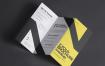 折叠页宣传册样机Z Fold Psd Brochure Mockup