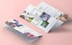 三折页纸张Tri Fold Psd 85×11 Inch Mockup Vol2