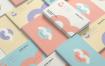 多角度多色彩名片样机展示304 business card mockup