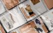 流行服装杂志画册展示样机 Shadow Brand Magazine Mockups