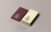 精致企业名片模型素材样机素材下载 Business Cards Stack Mockup