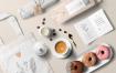 咖啡美食甜点样机素材模板展示样机下载Coffee Branding Mockup 58pd3l