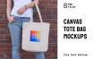 手提袋布艺样机多彩模板展示样机Canvas Bag Mockups Pack – City Park Edition