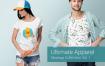 T恤服装场景样机素材模板展示 素材智能贴图Ultimate Apparel Mockup Vol 1