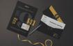 经典配色信笺和名片场景样机Letterhead Business Card Mockup
