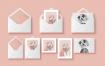 贺卡和信封样机模板素材下载Mockup Greeting Cards & Envelope  9lcc7f