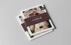 企业女士时尚服装展画册展示样机模板  智能贴图样机US Letter Magazine Mock-up 3