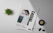 流行服饰样机样机素材模板下载Casual Magazine Template