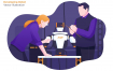 开发机器人创意场景插画素材模板下载Developing Robot Vector Illustration