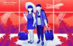 时间旅行创意场景插画设计素材模板下载Time to Travel Vector Illustration