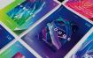 夏季渐变色彩海报套装模板展示素材Summer Poster Bundle 3 Gepq7m