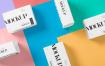美丽多色的包装盒场景样机智能样机贴图275 small box mockup