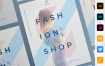 时尚店宣传活动海报/传单模板展示Fashion Shop Poster 4n2bwmq