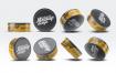 圆形锡罐模板展示样机 素材智能贴图样机模板Round Tin Can Mock Up