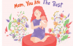 母婴插画场景素材下载Mom The Best Vector Illustration