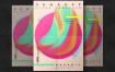 色彩肌理素材创意海报模板Creative Poster Template