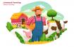 畜牧业矢量创意场景插画素材下载Livestock Farming – Vector Illustration