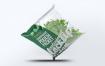 精致透明塑料袋食品包装设计VI样机智能贴图样机transparent pouch packet mock up