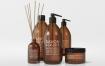 棕色洗化用品室内装饰瓶花瓶样机展示模型natural cosmetic packaging mock ups 3