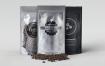 铝箔袋咖啡豆包装设计VI样机展示模型foil bag mock up pack
