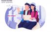 情侣度假系列场景素材下载Couple Vacation Vector Illustration