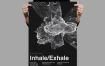 科技感线条粒子传单/海报InhaleExhale Flyer Poster