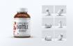 药瓶多角度玻璃瓶样机模板展示样机Supplement Bottle Mock Up