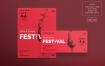 葡萄酒节传单和海报模板Wine Festival Flyer and Poster Template