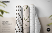 刺绣类面料图案花样设计智能贴图样机展示 Fabric Rolls Mockup 70 Ff V 6 3341307(1)