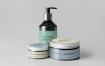 洗化用品粉底盒包装样机模板展示素材Cosmetic Bottle Mock up 4