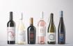 白葡萄酒包装瓶样机素材模板展示素材样机Wine Bottles Mockups Vol 1
