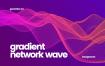渐变网络波背景Gradient Network Wave Backgrounds