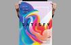 渐变风海报/传单模板展示素材Satisfy Poster Flyer